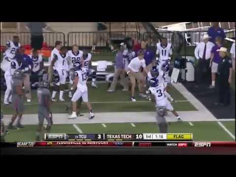 Trevone Boykin Crazy 30 Yard Run TCU Horned Frogs vs Texas Tech 2013