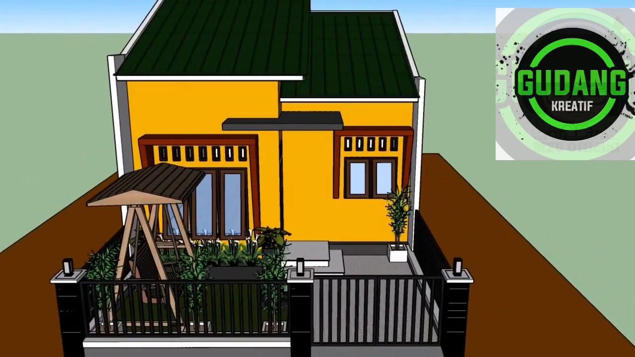 Desain Rumah Sederhana 6x8 meter Dengan 2 kamar tidur ...