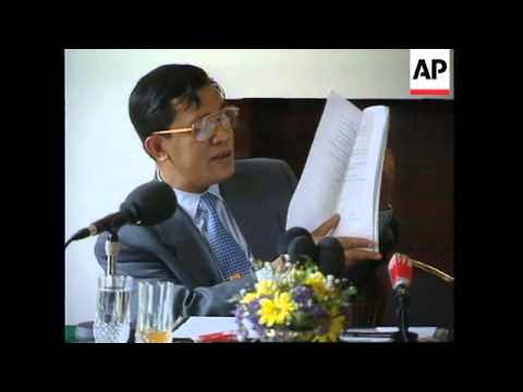 FRANCE: CAMBODIA'S 2ND PRIME MINISTER HUN SEN PRESS CONFERENCE