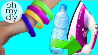 DIY crafts: BRACELETS recycling plastic bottles - OH MY DIY
