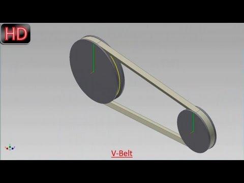 V-Belt-Dynamic Simulation (Video Tutorial) Autodesk Inventor