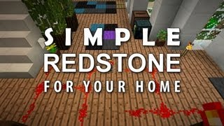 Minecraft: Redstone For Your Home #1 - Double Doors, Fridge, Hidden Storage, Auto Cooker