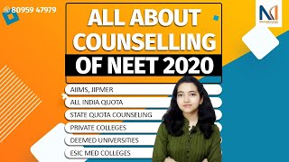 NEET Counselling 2020 Complete Knowledge|AIQ, Sate Quota Counselling | Private & Deemed Medical Univ