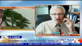 """""""Fluctuaciones en el ojo del huracán Patricia hicieron perder su energía"""", meteorólogo"""