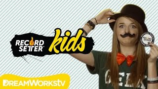 Jennxpenn has a Mustache! Crazy Fashion World Records | RecordSetter Kids