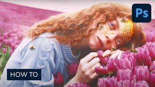 So Erstellen Sie eine Honey Bee Themen-Bildbearbeitung in Photoshop