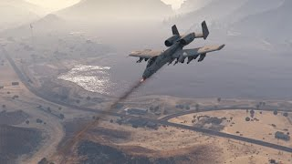 Grand Theft Auto 5 - A-10 Thunderbolt (WARTHOG) Jet mod GTA 5