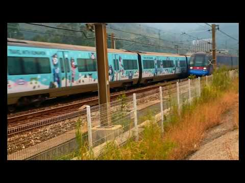 熊本熊車身塗裝港鐵機場快綫CAF TrainE104/K404駛經欣澳海濱長廊