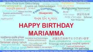 Mariamma   Languages Idiomas - Happy Birthday