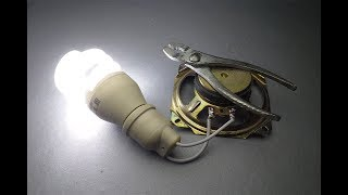 New 2019 (WOW) Free Energy Generator 100% with Speaker / Project At home