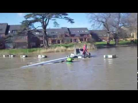 A novel boat recovery technique by Stratford-upon-Avon Rowing Club 16/02/14