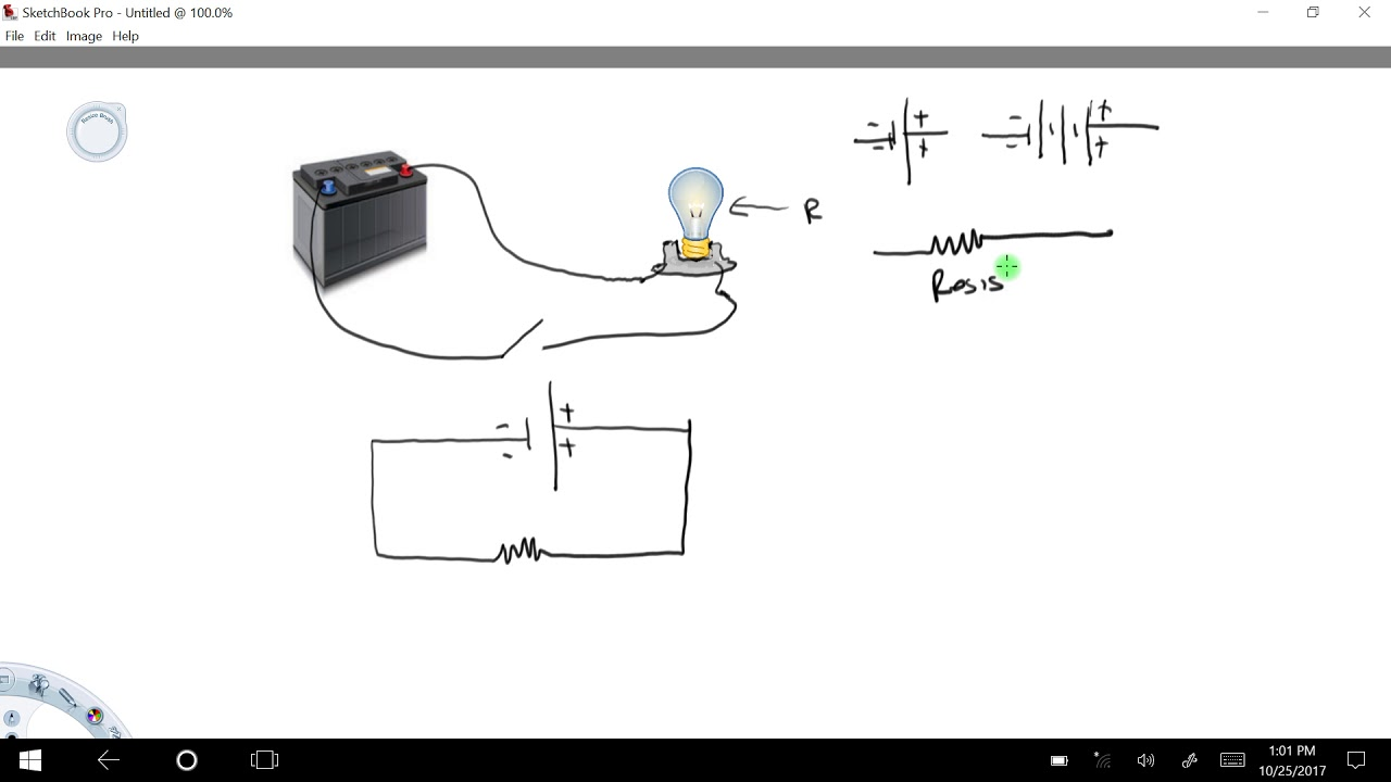 how to draw a simple circuit diagram youtube draw a simple schematic diagram of a computer connected to a network draw a simple schematic diagram [ 1280 x 720 Pixel ]