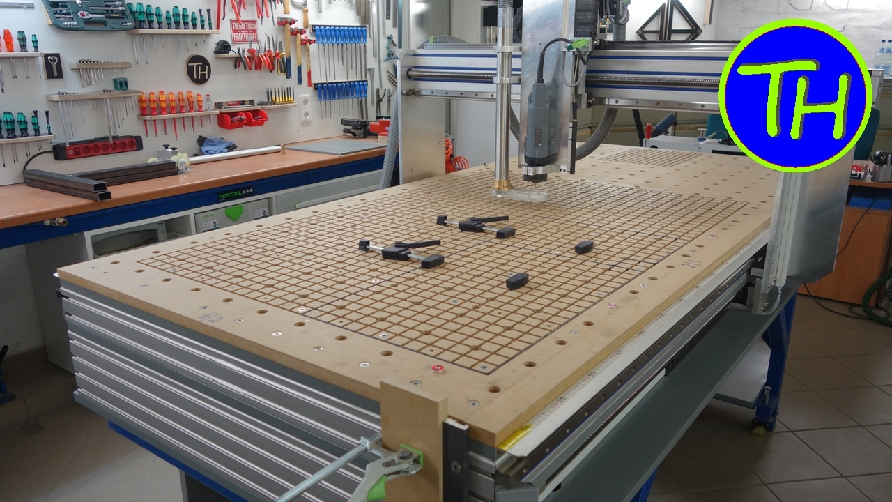 Homemade CNC Router with built-in