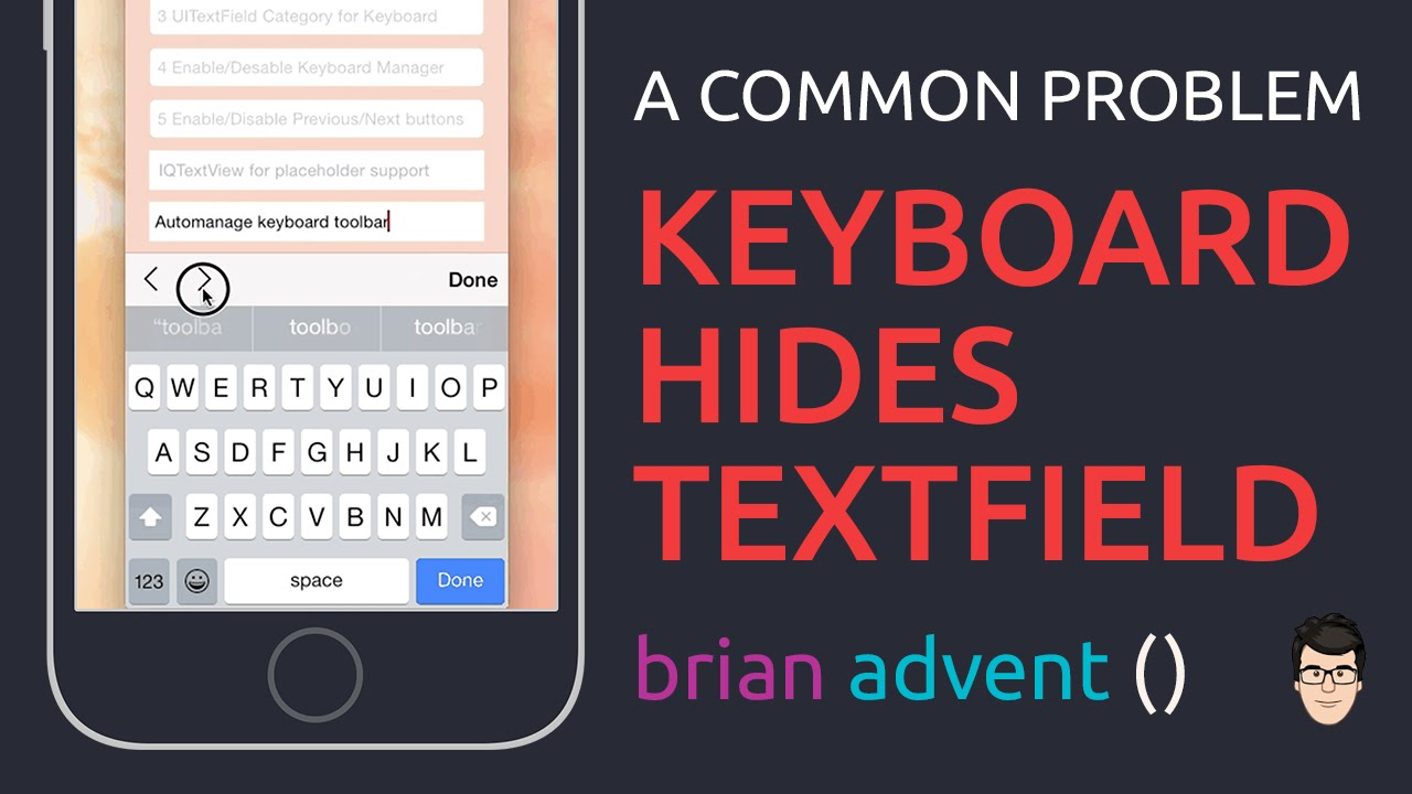 iOS Swift Tutorial: Keyboard covering textView or textField?