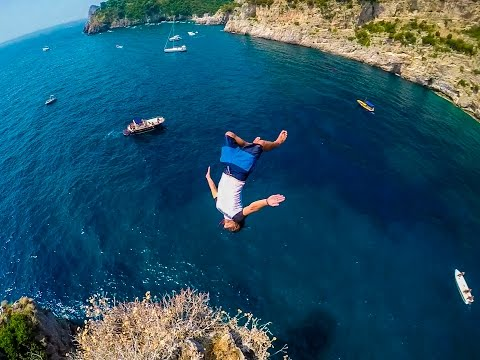 Cliff Jumping Italy – creating a Contiki Legend in 4K!