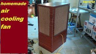 quạt điều hòa tự chế.homemade air cooler fan