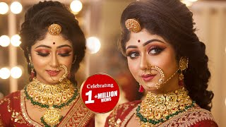 Indian Royal Bridal Makeover || Step By Step HD Makeup || By Mayuri Sinha Sarkar ||