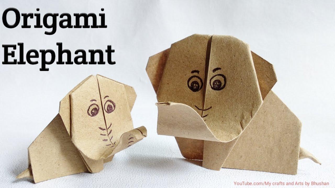Origami Elephant. (Instructions) (Full HD) - YouTube | 720x1280
