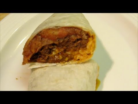 Beef and Refried Bean Burrito Recipe