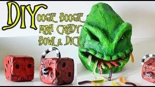 DIY Oogie Boogie Man Candy Bowl & Snake Dice from Nightmare Before Christmas Halloween Decorations!