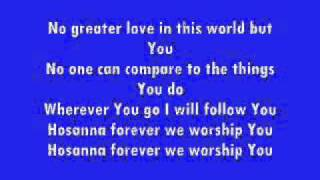 Hosanna Kirk Franklin +Lyrics (on screen)