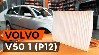 Hoe een interieurfilter / pollenfilter vervangen op een VOLVO V50 1 (P12) [AUTODOC-TUTORIAL]