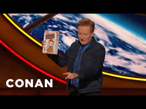A ConanCon Audience Member Assaults Conan With A Cereal Box - CONAN on TBS