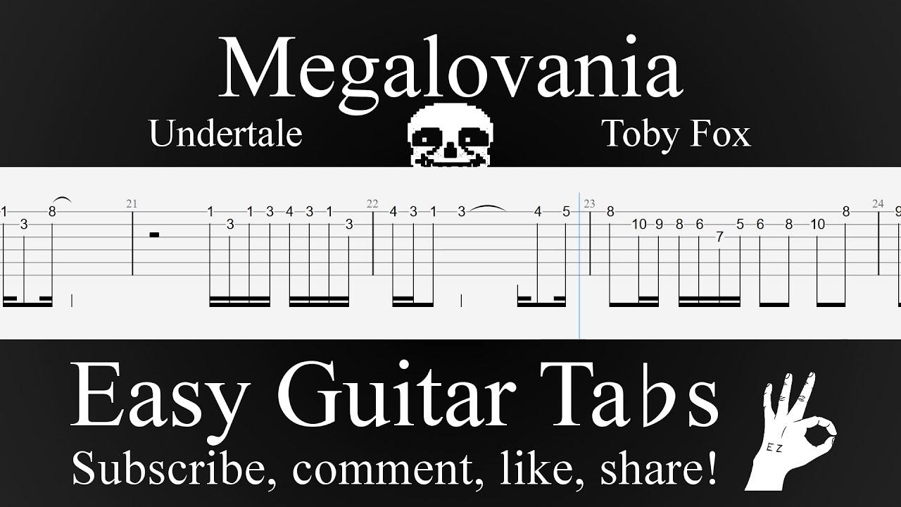 Megalovania - Undertale - EASY Guitar Tab Tutorial