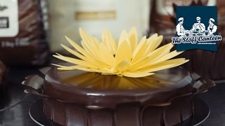 How to decorate chocolate cakes and Entremets with chocolate flowers