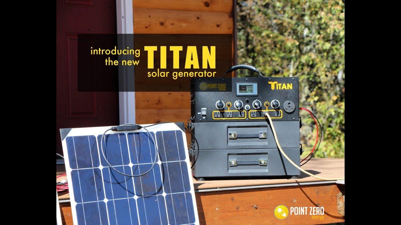 Titan Solar Generator Point Zero Energy