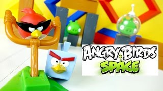 Angry Birds Space Playset Toy ★ Ice Bird Red Angry Space Bird Green Piggies