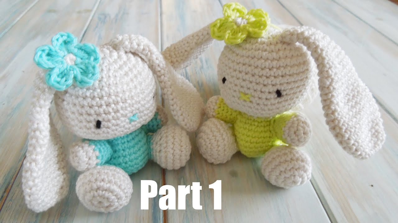 (crochet) Pt1: How To Crochet an Amigurumi Rabbit - Yarn ...