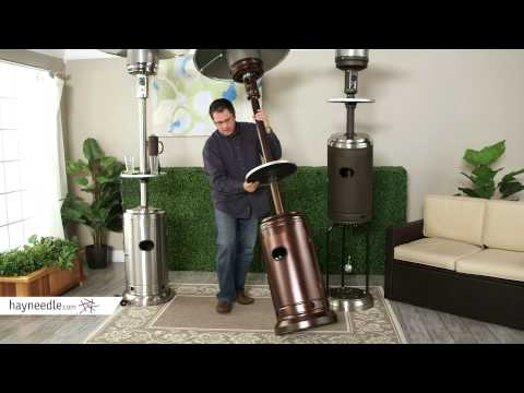 Red Ember Commercial Patio Heater with Table - Product Review Video