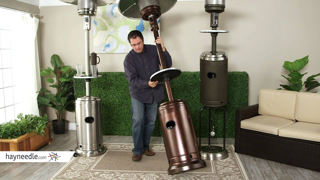 Red Ember Commercial Patio Heater With Table   Product Review Video