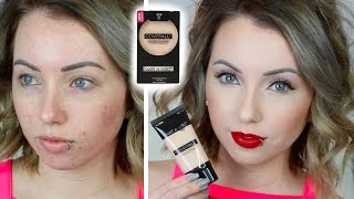 Foundation Friday! WET N WILD COVERALL FOUNDATION & POWDER First Impression Review | Acne/Pale Skin
