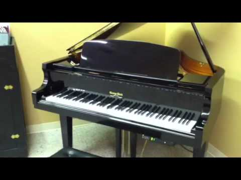 3b9e914d0cc George Steck 4 8 Baby Grand Player Piano - YouTube