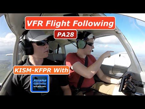 VFR Flight| ILS Approach| KISM-KFPR| PA28| ATC Audio