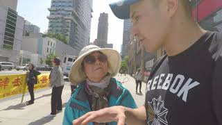 Dialogue with a protesting woman from China. Common problems of Kazakhstan and China