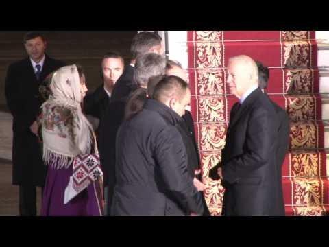 Vice President Biden Arrives to Kyiv