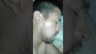 My husband,snoring like a bullfrog
