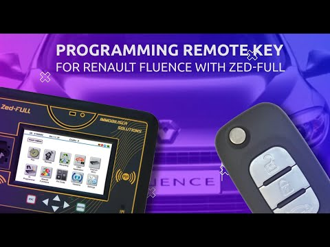 Programming Remote Key For Renault Fluence With ZED-FULL