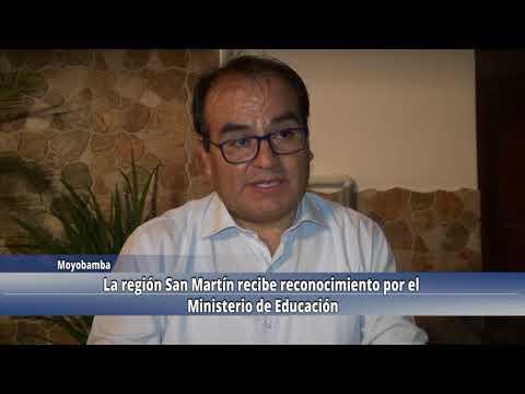 La región San Martín recibe reconocimiento por el ministerio de educación