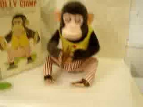 Vintage Daishin CK Musical Jolly Chimp Toy