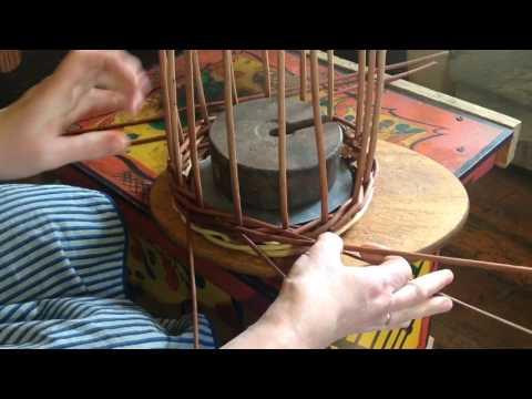 Плетение корзины из лозы.Ч.2.Верёвочка в 3 прута.