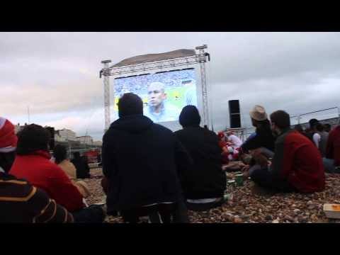 England Vs Uruguay world cup 2014, Brighton Beach