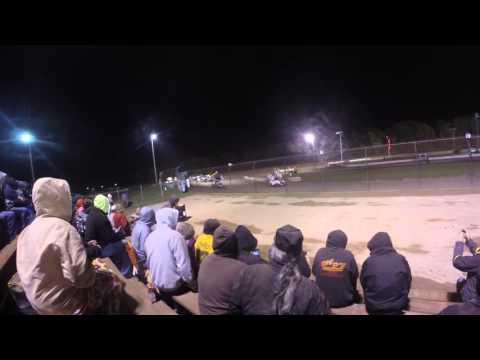 Kerry Madsen & Shane Stewart Flip @ Rolling Wheels Raceway Park (GoPro Head Cam) (10/10/15)