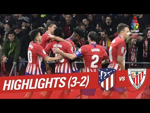 Resumen de Atlético de Madrid vs Athletic Club (3-2)