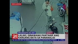 Lalaki, ginawang pantakip ang kargang bata sa pananalisi