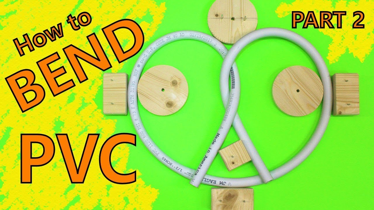 How To Bend Pvc Pipe Easy Part 2 Bending Forms Youtube With Electrical Conduit Together