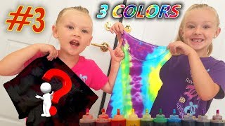 3 Colors Tie Dye Challenge Complete Summer Outfit!!! Tank Top & Shorts!